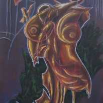Acryilc on canvas. 20''x 30'' Year: 2008