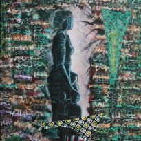 Acrylic and collage on canvas. 24''x 36'' Year: 2012